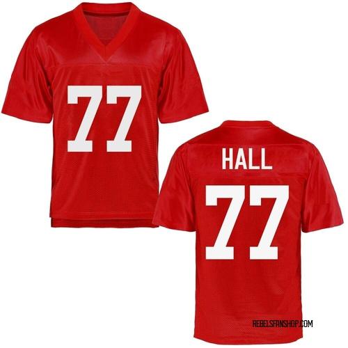 Men's Hamilton Hall Ole Miss Rebels Replica Cardinal Football College Jersey