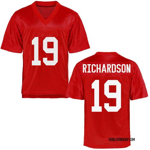 Men's Jamar Richardson Ole Miss Rebels Replica Cardinal Football College Jersey