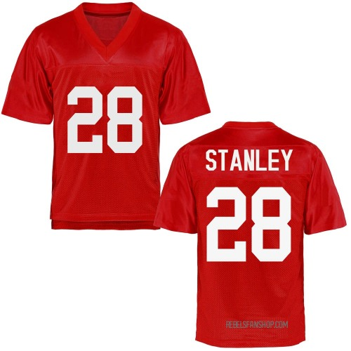 Men's Jay Stanley Ole Miss Rebels Game Cardinal Football College Jersey