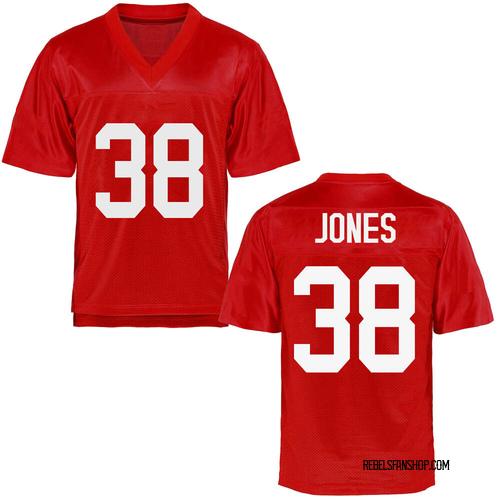 Men's Jaylon Jones Ole Miss Rebels Game Cardinal Football College Jersey