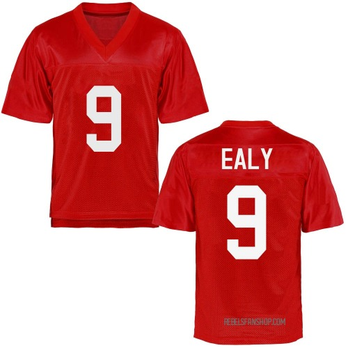 Men's Jerrion Ealy Ole Miss Rebels Replica Cardinal Football College Jersey