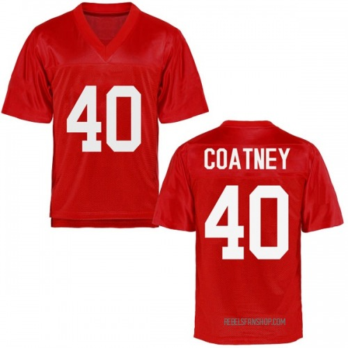 Men's Josiah Coatney Ole Miss Rebels Game Cardinal Football College Jersey