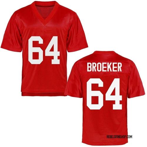 Men's Nick Broeker Ole Miss Rebels Game Cardinal Football College Jersey