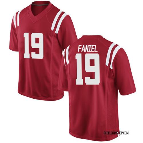 Men's Nike Alex Faniel Ole Miss Rebels Replica Red Football College Jersey