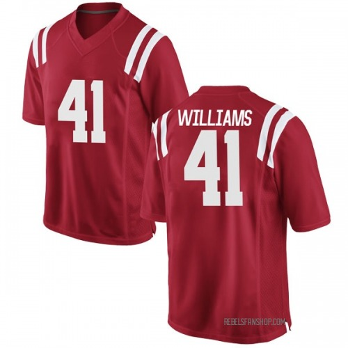 Men's Nike Brenden Williams Ole Miss Rebels Game Red Football College Jersey