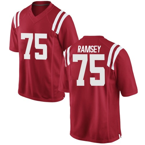 Men's Nike Bryce Ramsey Ole Miss Rebels Game Red Football College Jersey