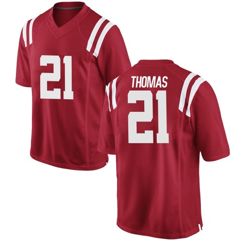 Men's Nike Damarcus Thomas Ole Miss Rebels Replica Red Football College Jersey