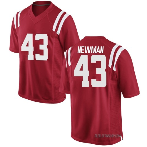 Men's Nike Daniel Newman Ole Miss Rebels Game Red Football College Jersey