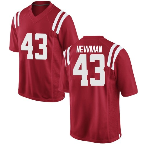 Men's Nike Daniel Newman Ole Miss Rebels Replica Red Football College Jersey