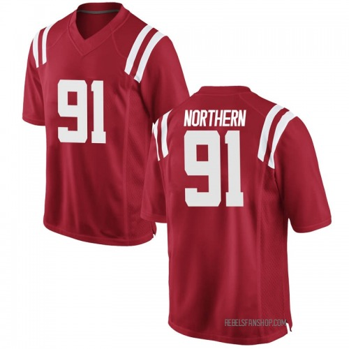 Men's Nike Hal Northern Ole Miss Rebels Game Red Football College Jersey
