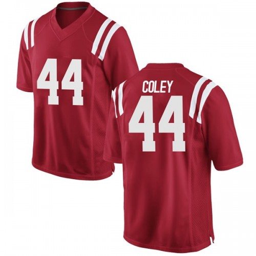 Men's Nike James Coley Ole Miss Rebels Game Red Football College Jersey