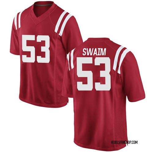 Men's Nike KC Swaim Ole Miss Rebels Replica Red Football College Jersey
