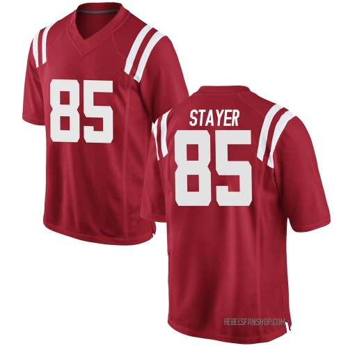 Men's Nike Owen Stayer Ole Miss Rebels Game Red Football College Jersey