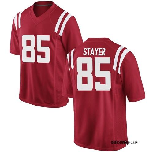 Men's Nike Owen Stayer Ole Miss Rebels Replica Red Football College Jersey