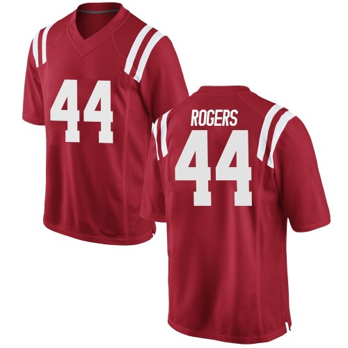 Men's Nike Payton Rogers Ole Miss Rebels Game Red Football College Jersey