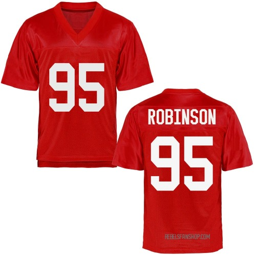 Men's Tavius Robinson Ole Miss Rebels Game Cardinal Football College Jersey