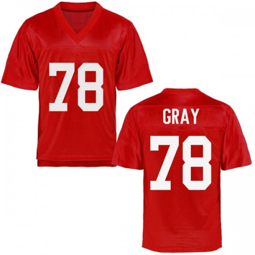 Men's Tony Gray Ole Miss Rebels Replica Gray Cardinal Football College Jersey
