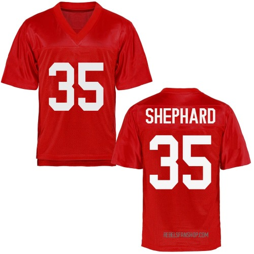 Men's Urriah Shephard Ole Miss Rebels Game Cardinal Football College Jersey