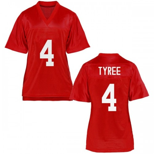 Women's Breein Tyree Ole Miss Rebels Game Cardinal Football College Jersey