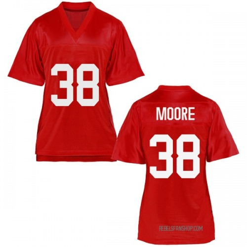 Women's C.J. Moore Ole Miss Rebels Replica Cardinal Football College Jersey