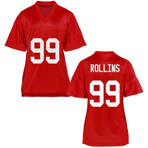 Women's Desanto Rollins Ole Miss Rebels Replica Cardinal Football College Jersey