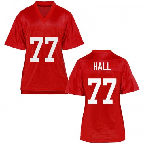 Women's Hamilton Hall Ole Miss Rebels Replica Cardinal Football College Jersey