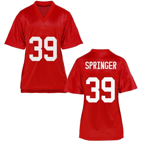 Women's Jacob Springer Ole Miss Rebels Replica Cardinal Football College Jersey