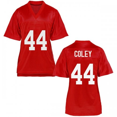 Women's James Coley Ole Miss Rebels Replica Cardinal Football College Jersey