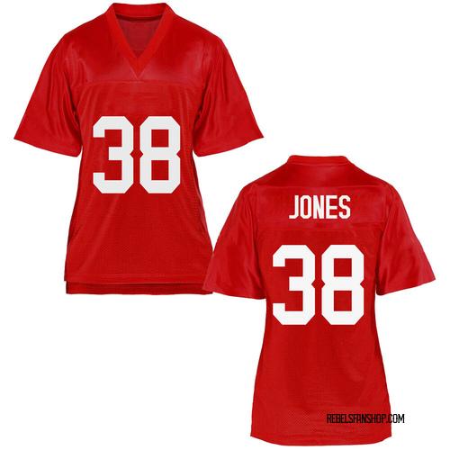 Women's Jaylon Jones Ole Miss Rebels Replica Cardinal Football College Jersey