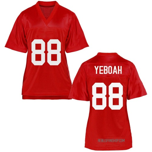 Women's Kenny Yeboah Ole Miss Rebels Game Cardinal Football College Jersey