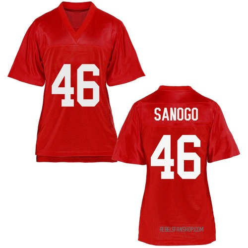 Women's Mohamed Sanogo Ole Miss Rebels Replica Cardinal Football College Jersey