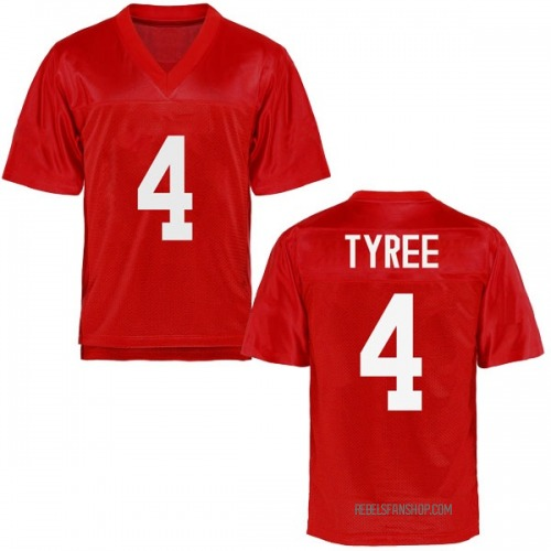 Youth Breein Tyree Ole Miss Rebels Replica Cardinal Football College Jersey