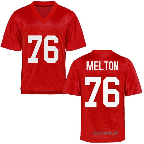 Youth Cedric Melton Ole Miss Rebels Replica Cardinal Football College Jersey