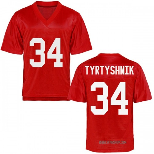 Youth Ilya Tyrtyshnik Ole Miss Rebels Replica Cardinal Football College Jersey