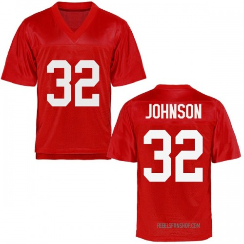 Youth Jerry Johnson Ole Miss Rebels Replica Cardinal Football College Jersey