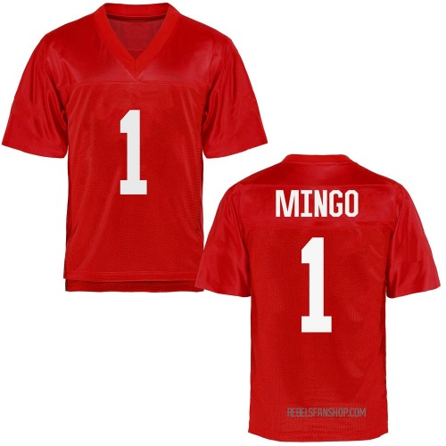 Youth Jonathan Mingo Ole Miss Rebels Game Cardinal Football College Jersey