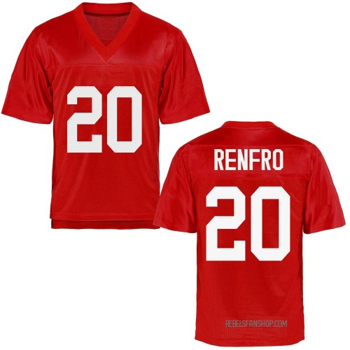 Youth Kade Renfro Ole Miss Rebels Game Cardinal Football College Jersey