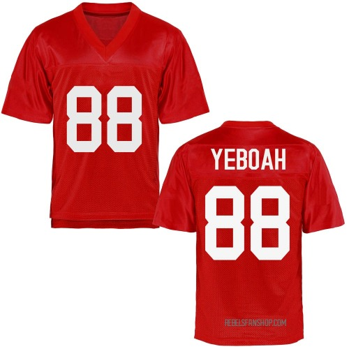 Youth Kenny Yeboah Ole Miss Rebels Game Cardinal Football College Jersey