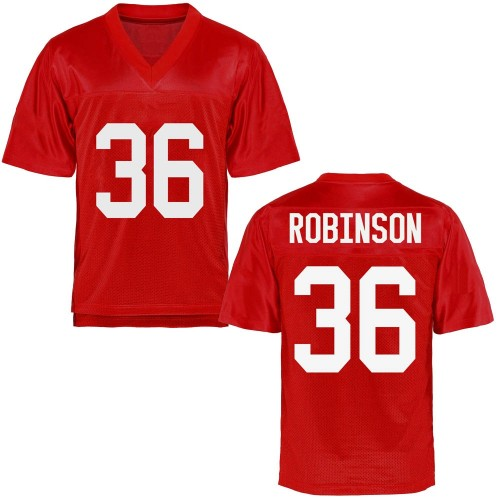 Youth Mark Robinson Ole Miss Rebels Game Cardinal Football College Jersey