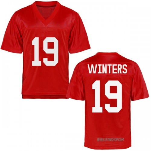 Youth Markel Winters Ole Miss Rebels Game Cardinal Football College Jersey