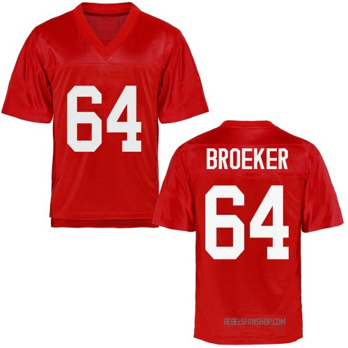 Youth Nick Broeker Ole Miss Rebels Game Cardinal Football College Jersey
