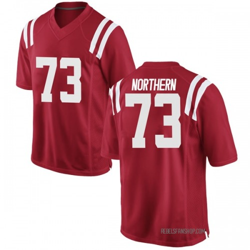 Youth Nike Hal Northern Ole Miss Rebels Replica Red Football College Jersey