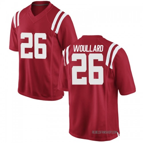 Youth Nike Isaiah Woullard Ole Miss Rebels Game Red Football College Jersey