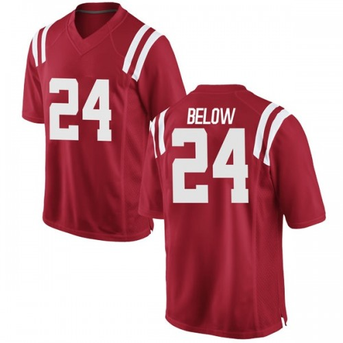 Youth Nike Lane Below Ole Miss Rebels Game Red Football College Jersey