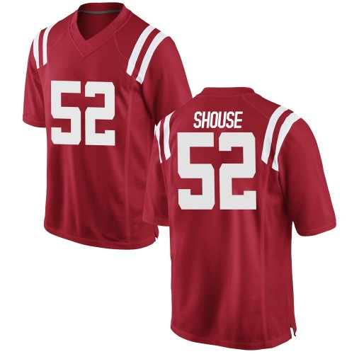 Youth Nike Luke Shouse Ole Miss Rebels Replica Red Football College Jersey