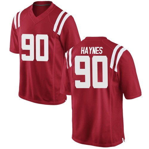 Youth Nike Nick Haynes Ole Miss Rebels Replica Red Football College Jersey