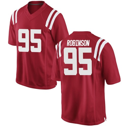 Youth Nike Tavius Robinson Ole Miss Rebels Game Red Football College Jersey