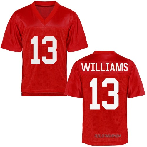 Youth Sam Williams Ole Miss Rebels Replica Cardinal Football College Jersey