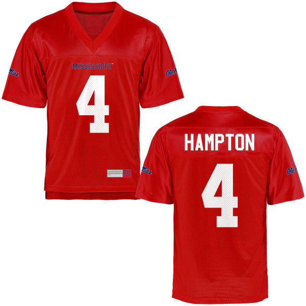 Youth C.J. Hampton Ole Miss Rebels Game Football Jersey Cardinal