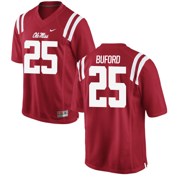 Men's Nike D.K. Buford Ole Miss Rebels Game Red Football Jersey